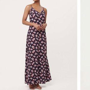 LOFT Floral Maxi Dress NWT
